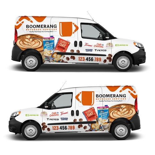 Design an eye catching delivery van