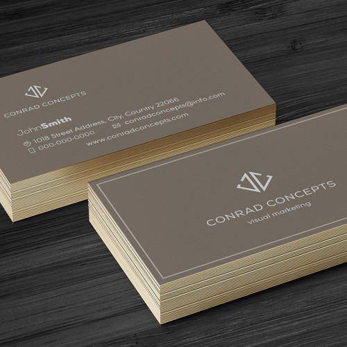 Sophisticated modern and professional logo concept for a retail company
