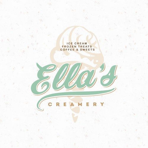 "Vintage style logo concept for ""Ella's creamery"""