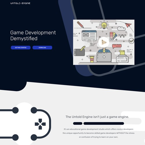 Landing Page for Untold Engine