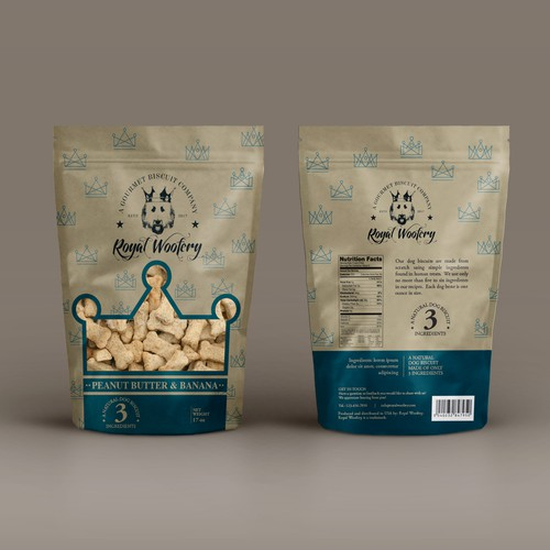 Packaging for upscale dog treats