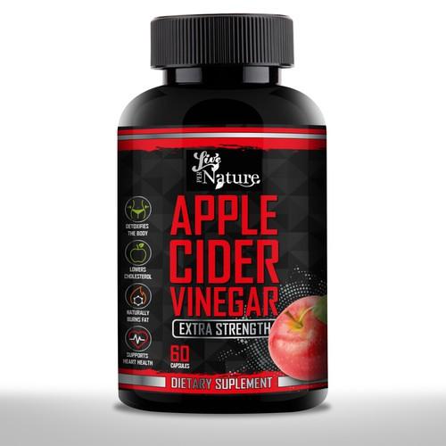 Apple cider vinegar live per nature label