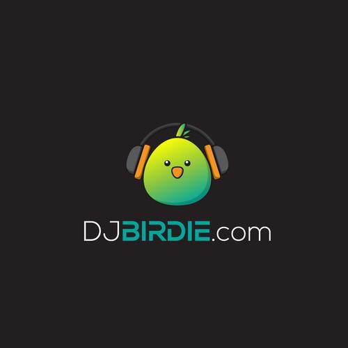 Design a fun bird logo for a mobile DJ