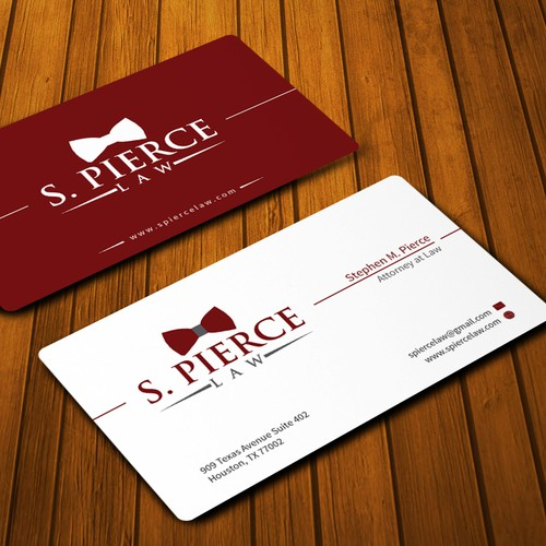 Create a business card for S. Pierce Law