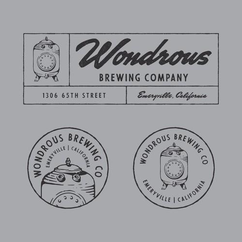 Wondrous Brewing Co - Winning design