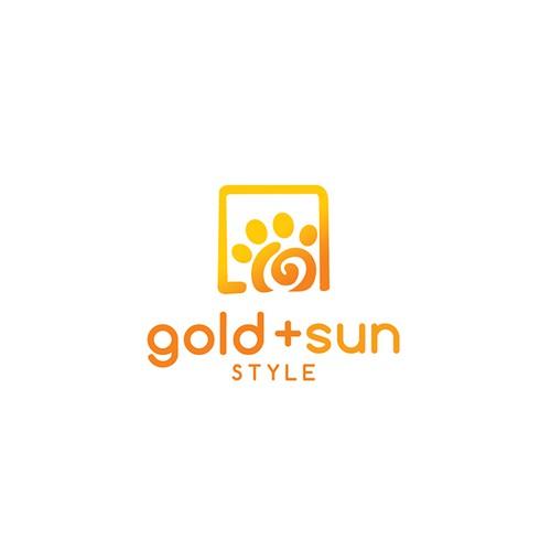 logo for gold+sun