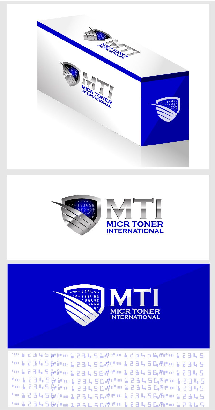 Help Micr Toner International with a new logo for packaging and brochures.