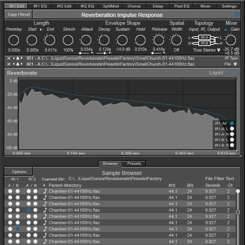 Interface skin for a music production plugin