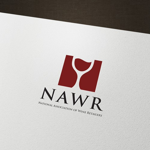 Minimalistic design for a wine retailers association