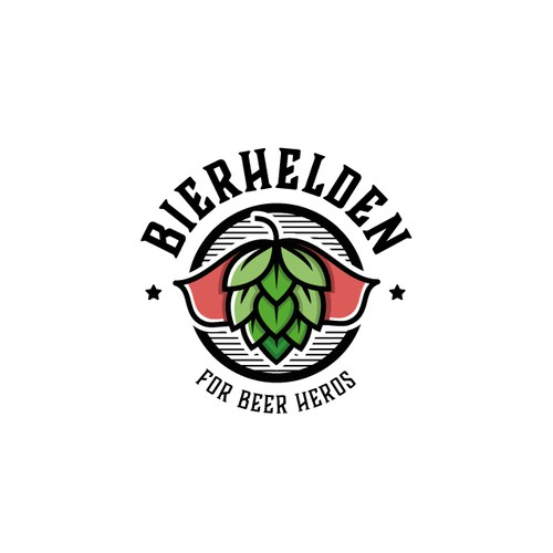 Playful logo for a beer-related app
