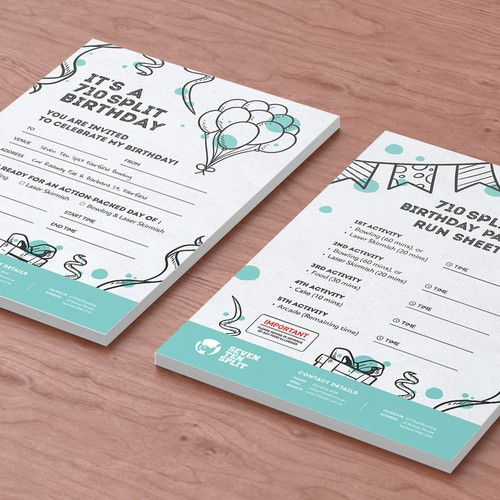 A5 Flyer - Bday Party Invitation Design