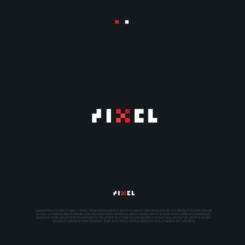 Pixel logo concept.