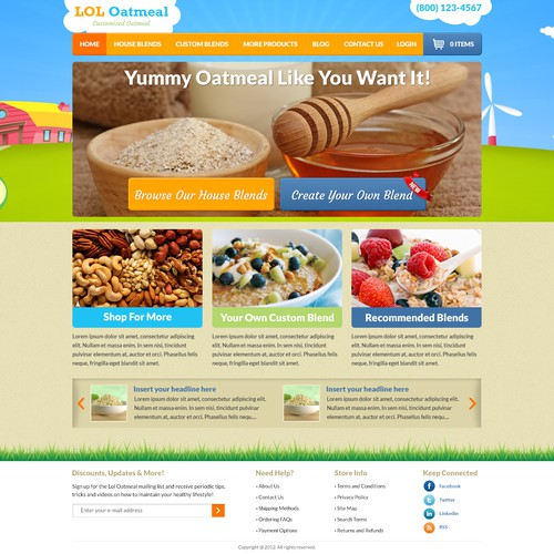 Colorful Oatmeal Website