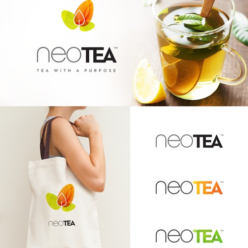 Create a cool modern brand design for new beverage company neoTEA