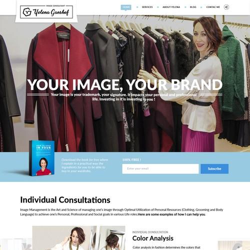 Yelena Ganshof Landing Page
