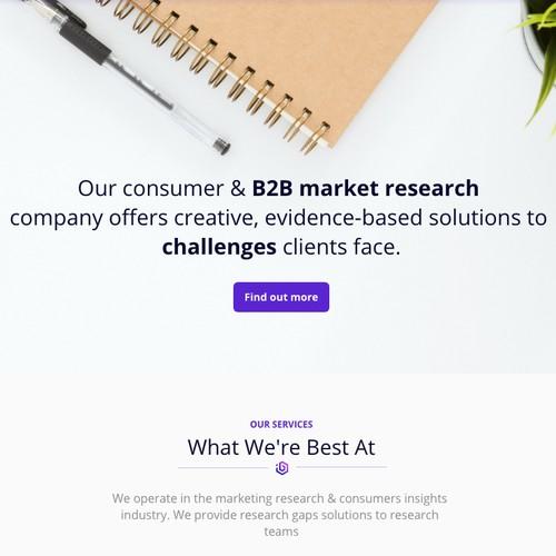 Web design for B2B insights agency