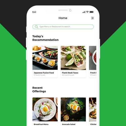 Nutrition App Design