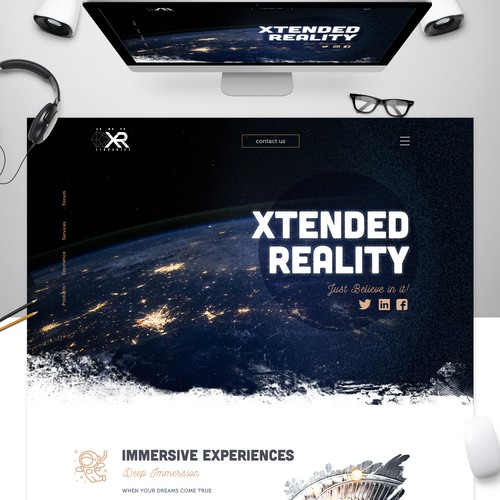 Landing Page VR Reality