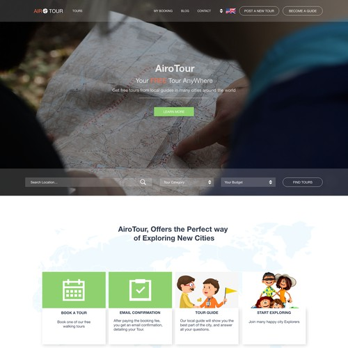 Landing Page Redesign for AiroTour