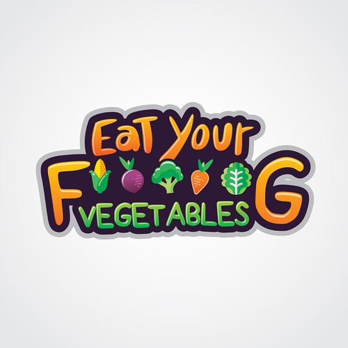 "Logo design concept for a Podcast ""Eat Your F*****G Vegetables"