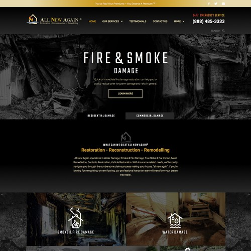 Emergency Restoration Website