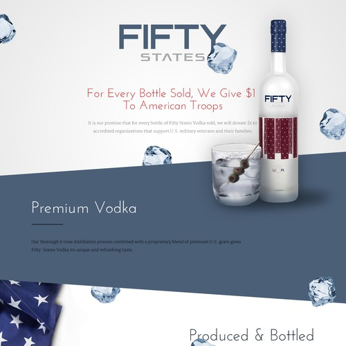 Simplistic/Compelling Landing Page Needed For A Vodka Startup