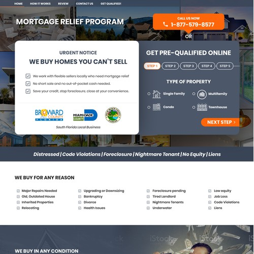 Mortgage & Real Estate Landing Page