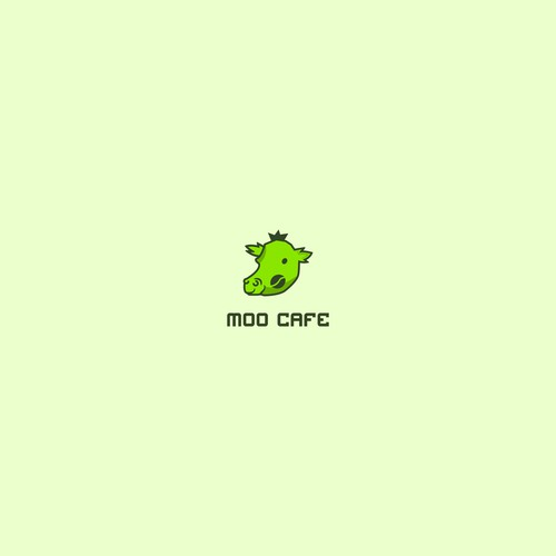 "Logo concept for ""Moo Cafe"""