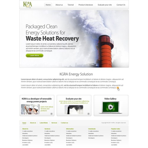 KGRA Energy needs a new website design