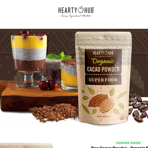 Header image for an Organic Cacao Powder