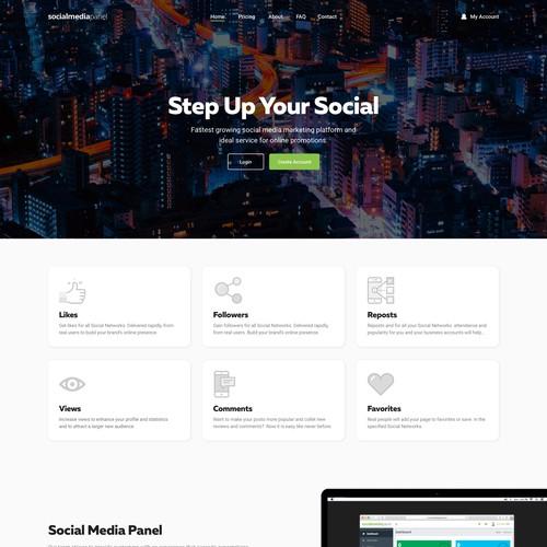 Homepage for Social Media Panel