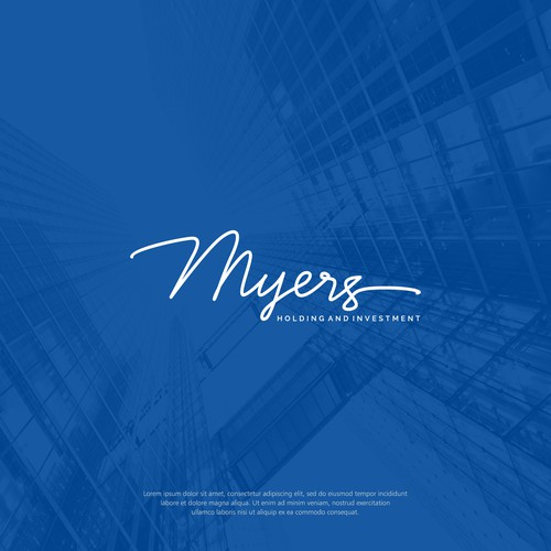 Logo concept for MYERS Holding and Investment