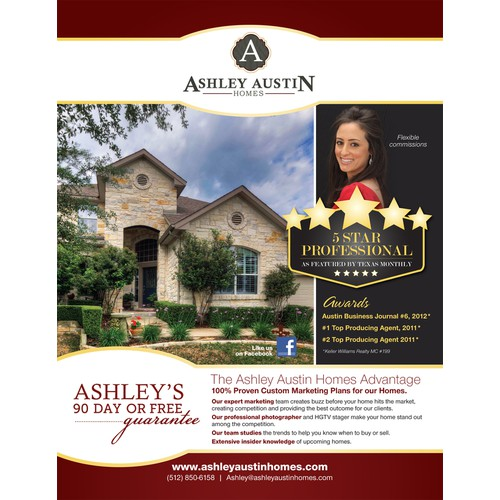 Flyer for real estate agent Ashley Austin Homes