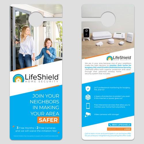 Door hanger design for home security company