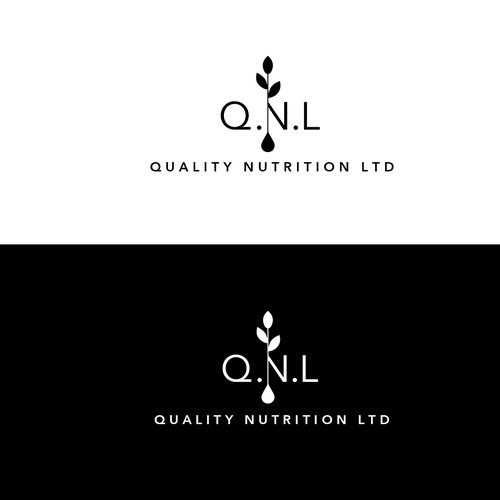 A clean, minimalistic logo for an organic oils company