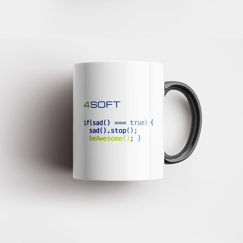 Mug design for software company