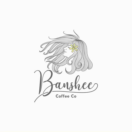 Banshee Coffee Co Logo Concept