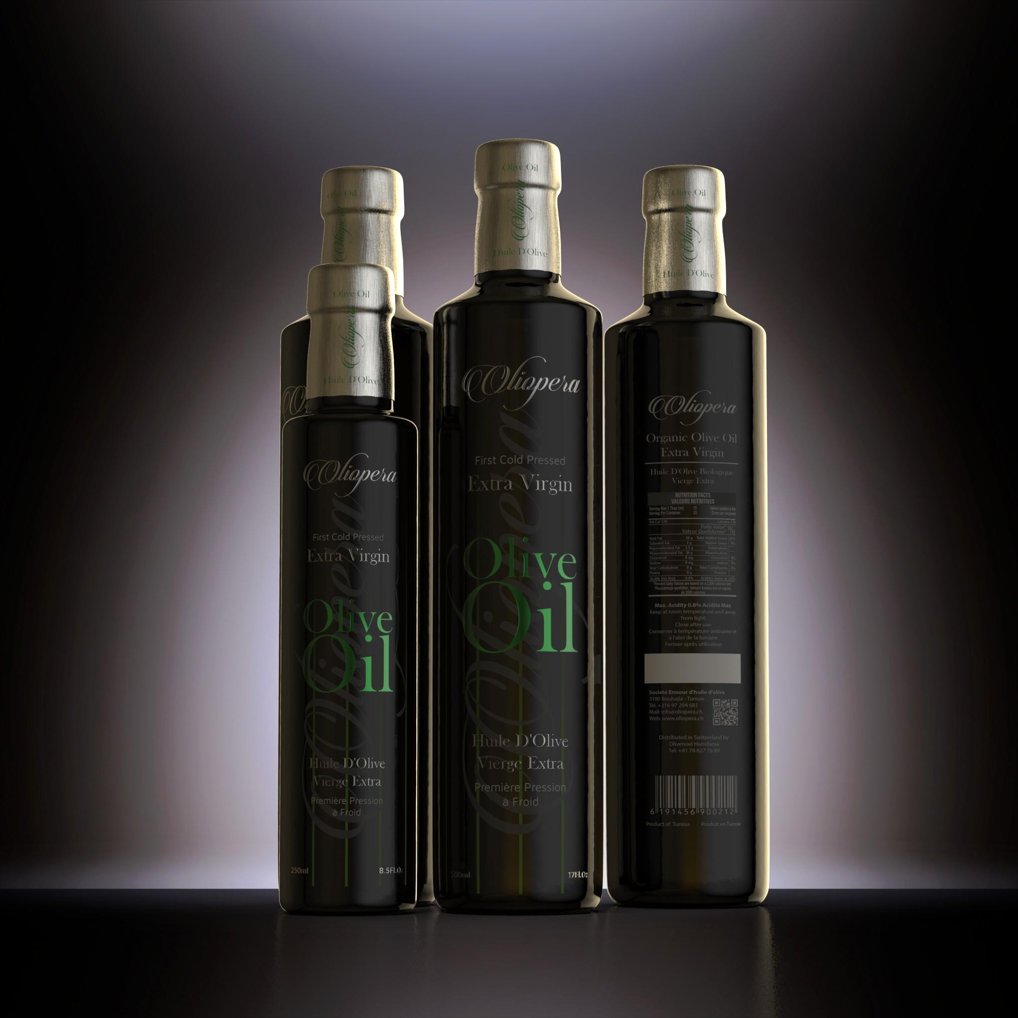 Labels for Olive Oil Bottles 250 and 500ml extra virgin