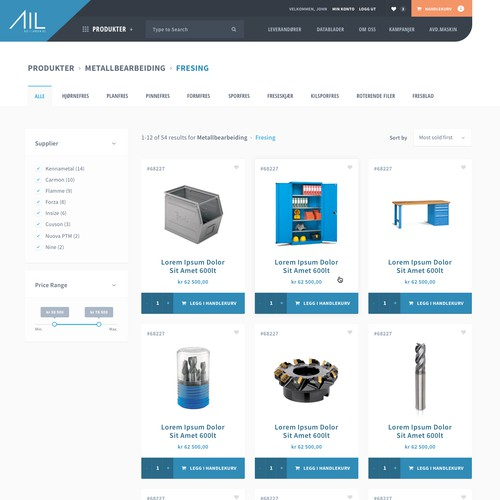 Tool supplier e-commerce