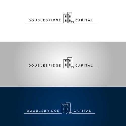 Clean logo design for Doublebridge Capital