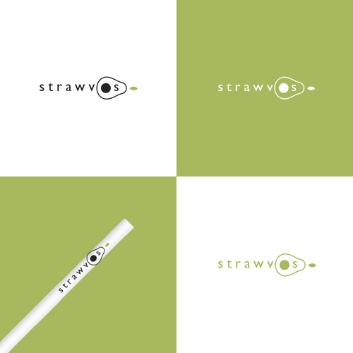 Clean logo design for avocado seed straws
