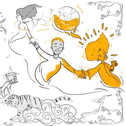 "Illustration ""Tiger Style"""