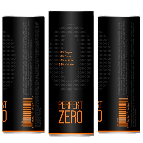 Perfekt Zero - Label for premium new alcoholic beverage