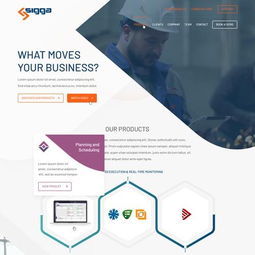 Bespoke, geometric style web design