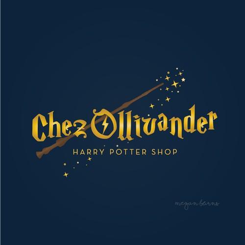 Logo concept for a Harry Potter shop