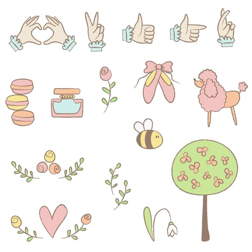Emoticon Stickers/Stamp Sets for a Photo Editing App