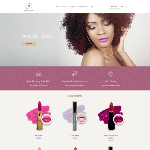 Square Online site for MS Beauty Bar LLC
