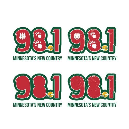Create a country radio brand logo with a Minnesota attitude!