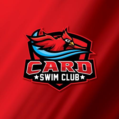 Cardinal swim club logo