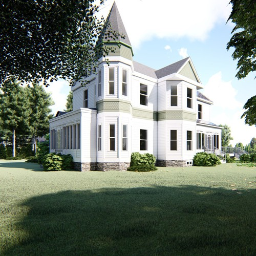 Historic House Exterior Visualization